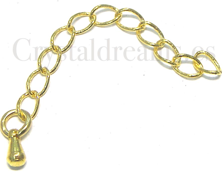 Chain Extension 55 mm. Golden with drop