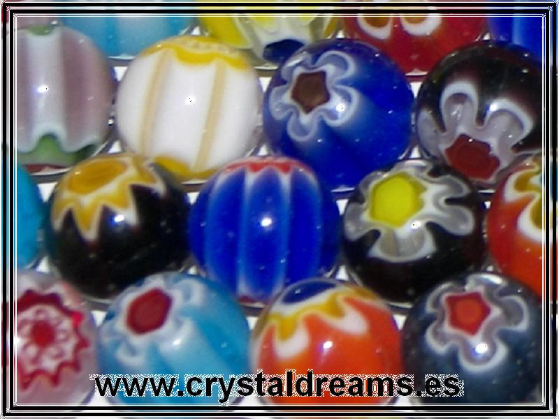 10 x Murano Bolas 12mm Mix