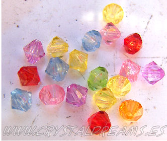 Pack of 1000 4mm acrylic bicone Beads