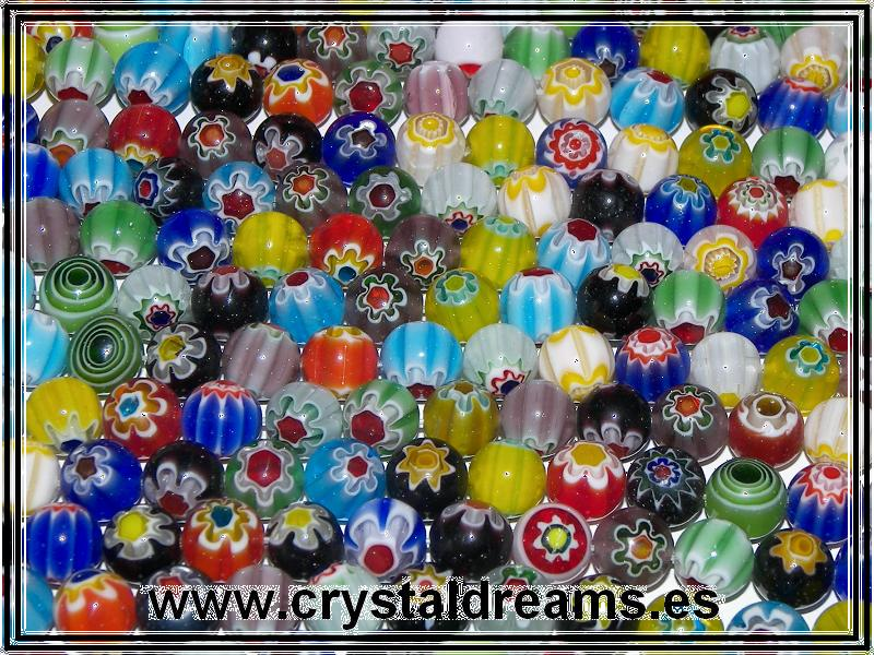 10 x Murano Rounds 6mm Mix