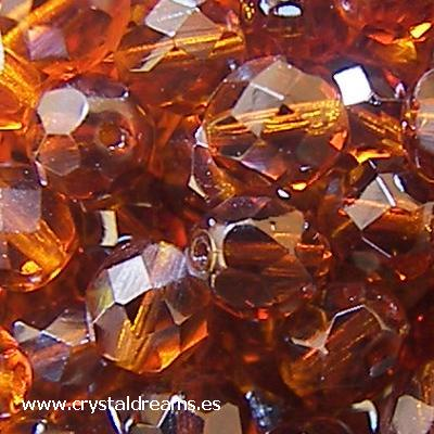"Fire Polished 8mm ""Smoked Topaz\"""