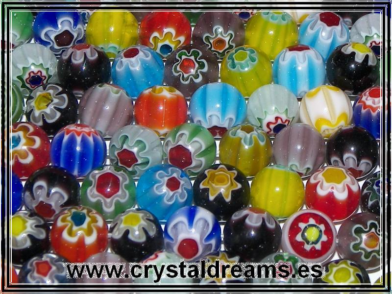 10 x Murano Bolas 8mm Mix