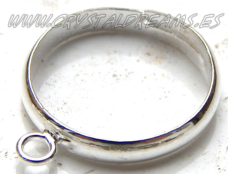 Ring with 1mm Ring - Silver Color