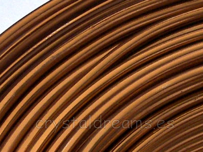 CABLE DE ALUMINIO - 2mm - CHOCOLATE x 1m