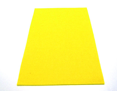 Plancha de fieltro soft 1mm espesor 20x30cm Yellow