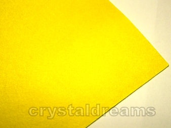 Plancha de fieltro - 1mm espesor - 21x30cm - Yellow