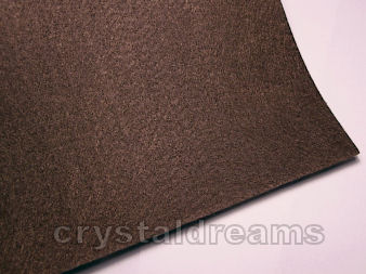 Plancha de fieltro - 1mm espesor - 21x30cm - Brown