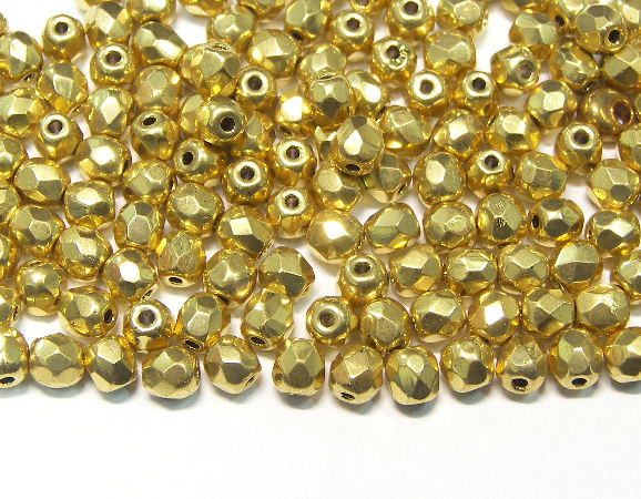 Fire Polished 4mm GOLD