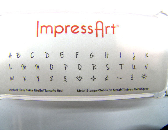 Full engraving ImpressArt set - Uppercase Letters 33 pieces 3mm