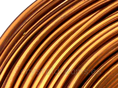 12 Metros de CABLE DE ALUMINIO - 2mm - LIGHT BROWN