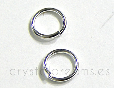 Jump ring 10mm Silver color 10 unitée