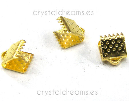 Terminales Color Golden 6x6mm Agujero:1,3mm
