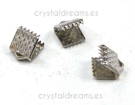 Terminales Color Platinum 6x6mm Agujero:1,3mm