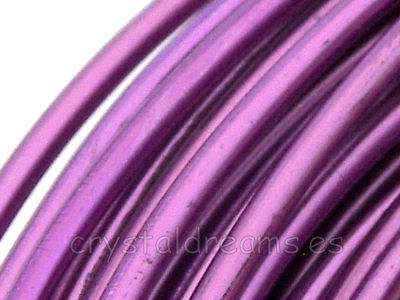 12 metros CABLE DE ALUMINIO - 1,5mm - LIGHT VIOLET